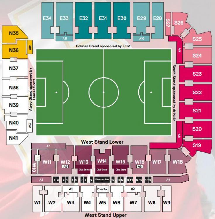 West Stand Seating Plan Football Chat One Team In